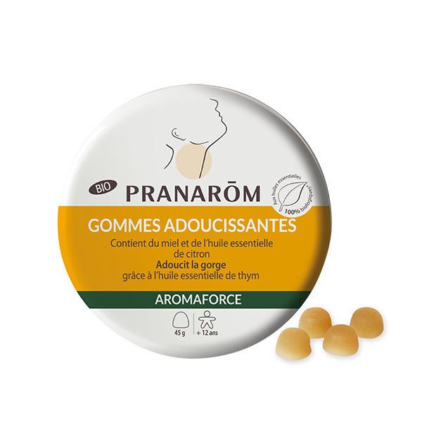 Pranarôm - Gommes adoucissantes - Miel / Citron Bio 45g
