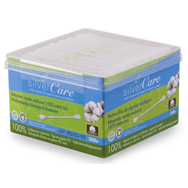Silver Care - Coton tige Coton Bio Boite x200