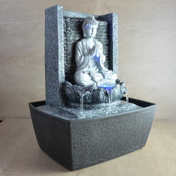 Fontaine d 39 int rieur mur bouddha pri re zen 39 ar me for Fontaine interieur zen