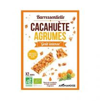 Aromandise - Barre Cacahuete Ronde D'Agrumes x2 barres 25g