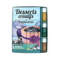 Aromandise - Livre Coffret Desserts Creatifs 3 flacons + 1 livre