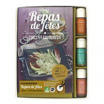 Aromandise - Livre Coffret Repas De Fetes 3 flacons + 1 livre