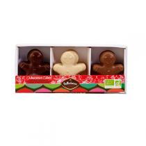 Belledonne - Boîte de chocolats pralinés Monsieur NOEL 3 recettes - 120 gr