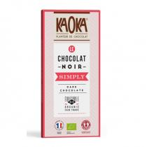 Kaoka - Tablette chocolat noir 58% simply Dark 80g