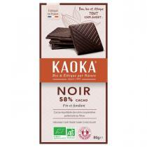 Kaoka - Tablette chocolat noir 58% simply Dark 80g