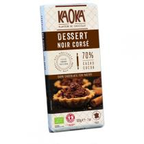 Kaoka - Tablette chocolat noir corsé Dessert 200g