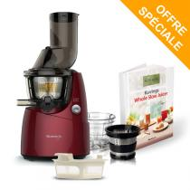 Kuvings - Pack Extracteur de jus Kuving's B9400 rouge + kit smoothie