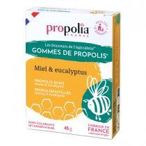Propolia - Gommes De Propolis Miel & Eucalyptus Sachet 45 g