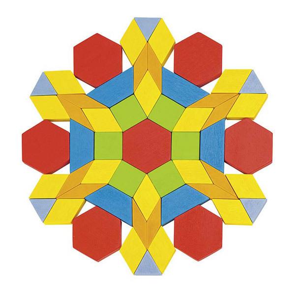 Goki - Mosaiques Formes geometriques 250 pieces - Des 3 ans