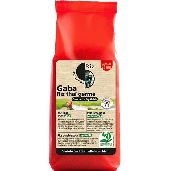 Autour du Riz - Riz germé Gaba sans gluten 500g