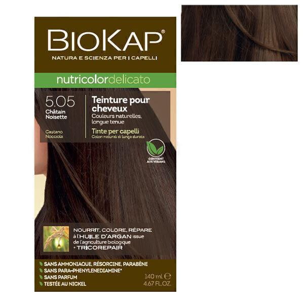 Biokap - Coloration Delicato 5.05 Châtain noisette 140 ml