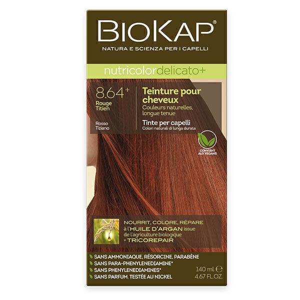 Biokap - Coloration Delicato+ 8.64 Titien rouge 140 ml