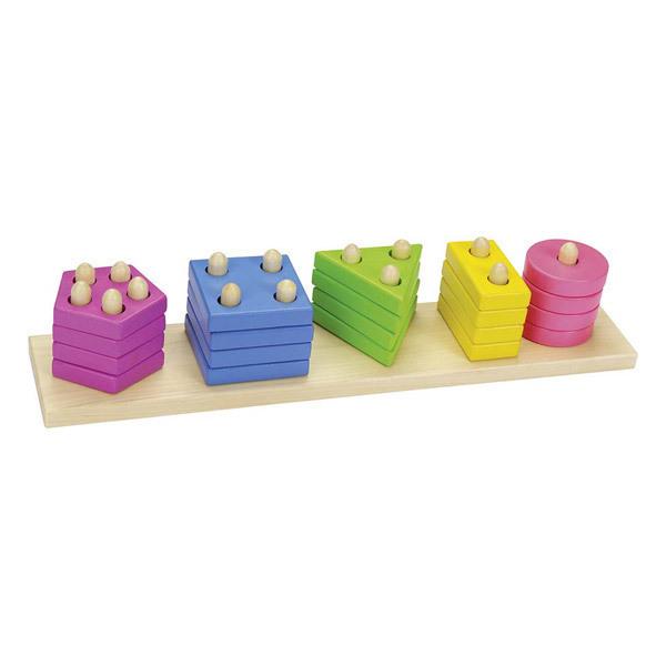 Goki - Empilable les formes & les couleurs -Dès 2 ans