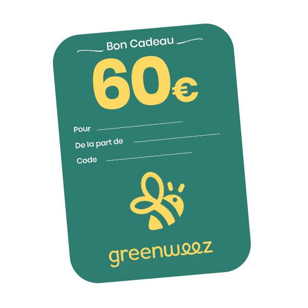 Greenweez.com - Chèque cadeau 60 Euros