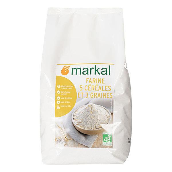 Markal - Farine 5 céréales 3 graines 1kg