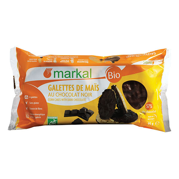 Markal - Galettes de maïs au chocolat noir 95g