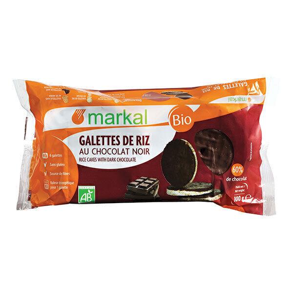 Markal - Galettes de riz au chocolat noir 100g