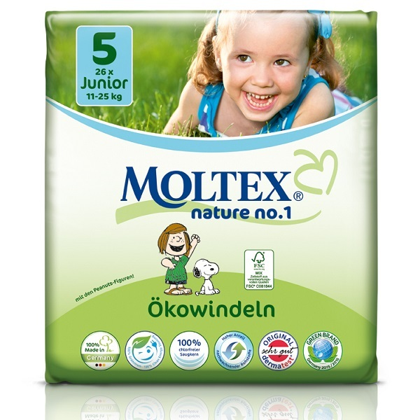 Moltex - 26 Couches Eco-Junior T5 Moltex 11-25kg