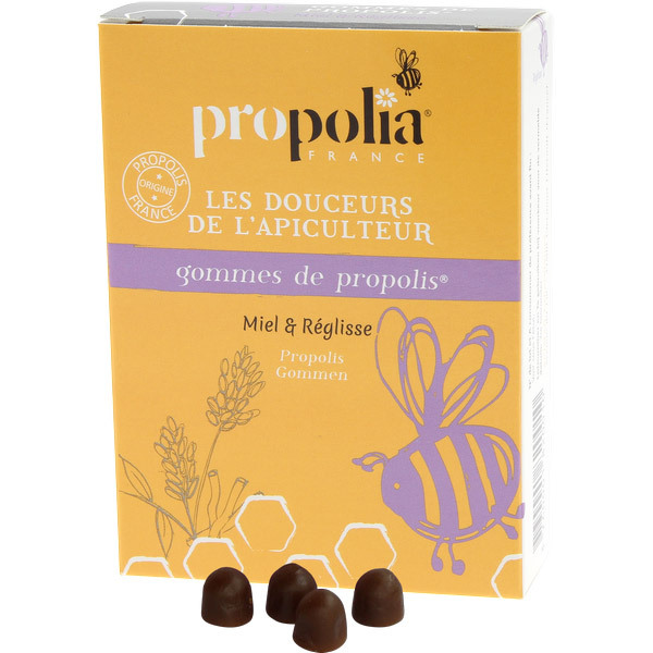 Propolia - Gommes De Propolis Miel & Réglisse Sachet 45 g