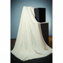 By Venga - Plaid coton bio Ecru 100x150 cm