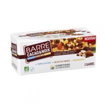 Comptoirs et Compagnies - 3 Barres Bio cacao et noix - 90g