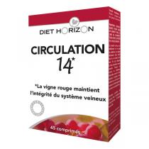 Diet Horizon - Circulation 14 - sanguine + lymphatique 45 cpés