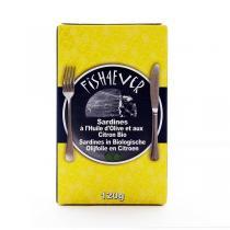 Fish4Ever - Sardines à l'huile d'olives et citron bio 120g