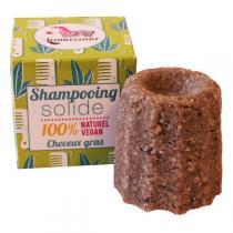 Lamazuna - Shampooing Solide Cheveux Gras - Litsee - 55G