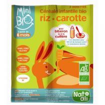 Natali - Céréales infantiles bio-carotte 16g