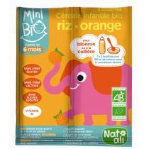 Natali - Céréales infantiles bio-orange 16g