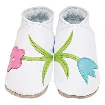 Starchild - Chaussons cuir Bella Blanc 0-24 mois