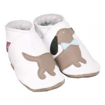 Starchild - Chaussons cuir Daxie Blanc 0-24 mois