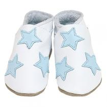 Starchild - Chaussons cuir Etoiles Blanc 0-24 mois