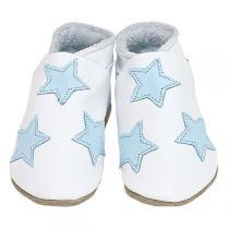 Starchild - Babyschuhe aus Leder - Sterne - weiss - 0-24 Monate