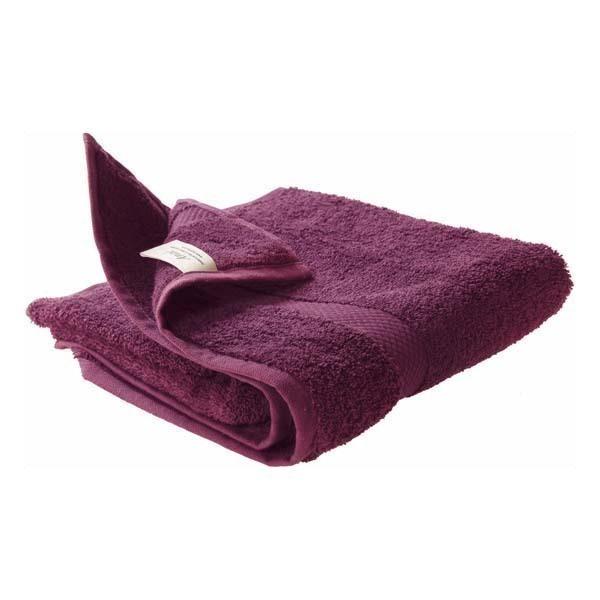Drap de bain 70x140cm prune ana acheter sur - Drap de bain bio ...