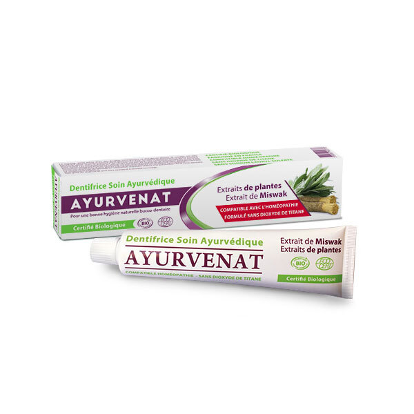 Ayurvenat - Dentifrice ayurvédique au Miswak 75ml