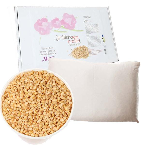 acheter oreiller Oreiller Coton et Millet Biologiques 40x60cm By Venga | Acheter  acheter oreiller
