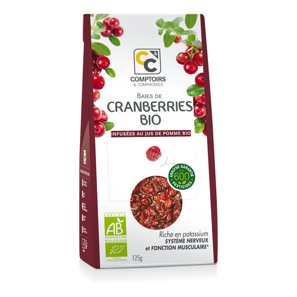 Comptoirs et Compagnies - Cranberries Bio - 125g