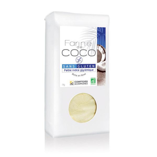 Comptoirs et Compagnies - Farine de coco - 1kg