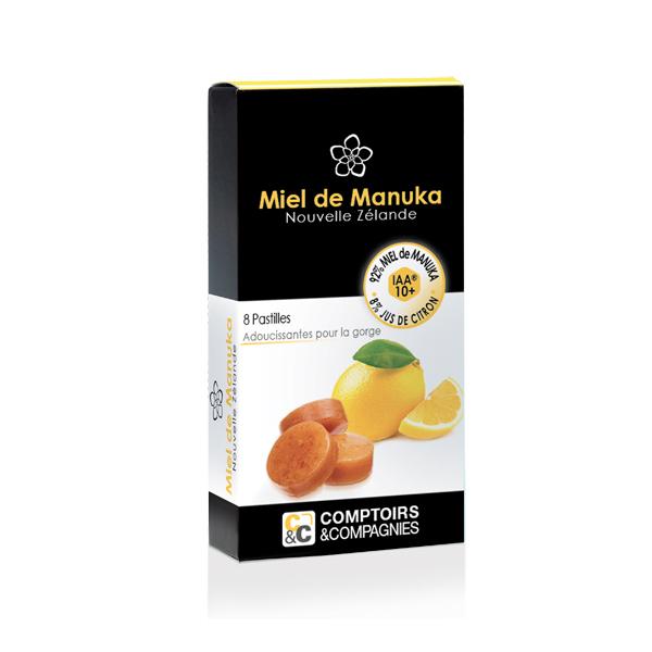 Comptoirs et Compagnies - Pastilles Miel de Manuka Jus de citron - 20g