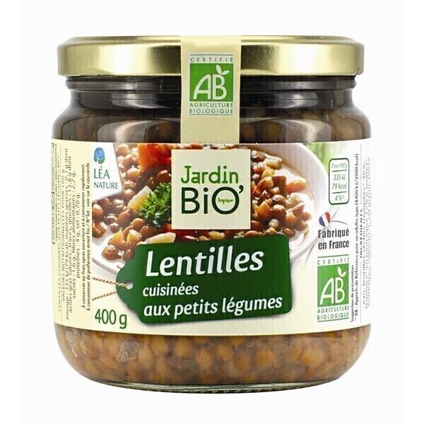 Lentilles cuisin es aux petits l gumes 400gr jardin bio for Le jardin aux epilobes
