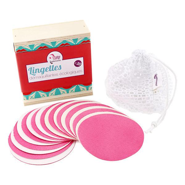 Lamazuna - Coffret 20 lingettes démaquillantes en microfibre