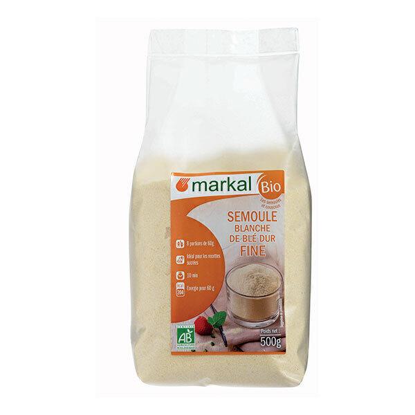 Markal - Semoule blanche de blé dur fine 500g