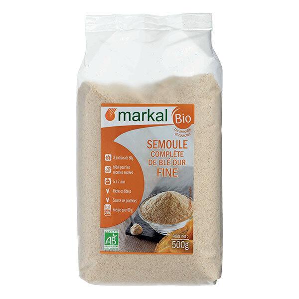 Markal - Semoule complète de blé dur fine 500g