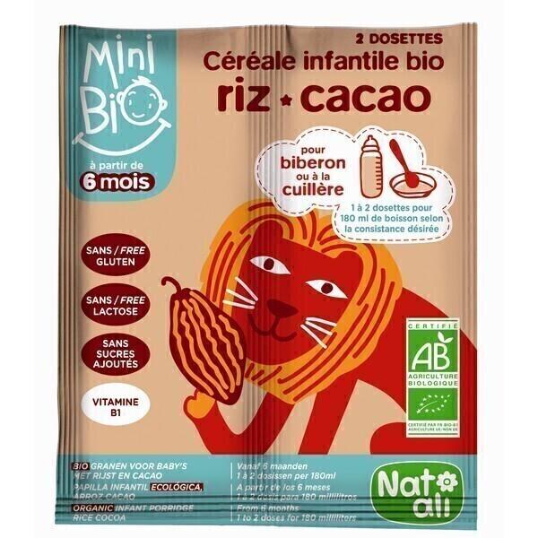 Natali - Céréales infantiles bio-cacao 16g