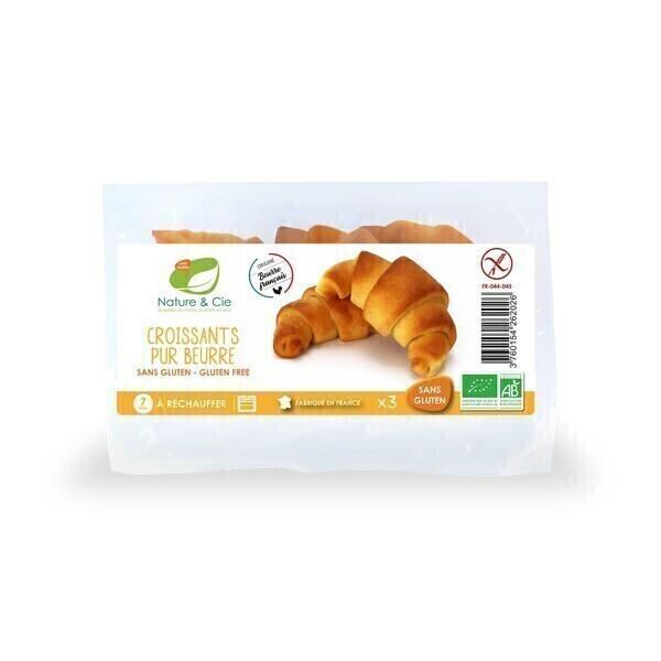 Nature & Cie - 3 Croissants Bio sans gluten 150g