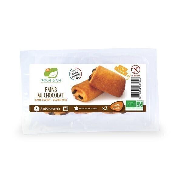 Nature & Cie - 3 Pains au chocolat Bio sans gluten 180g