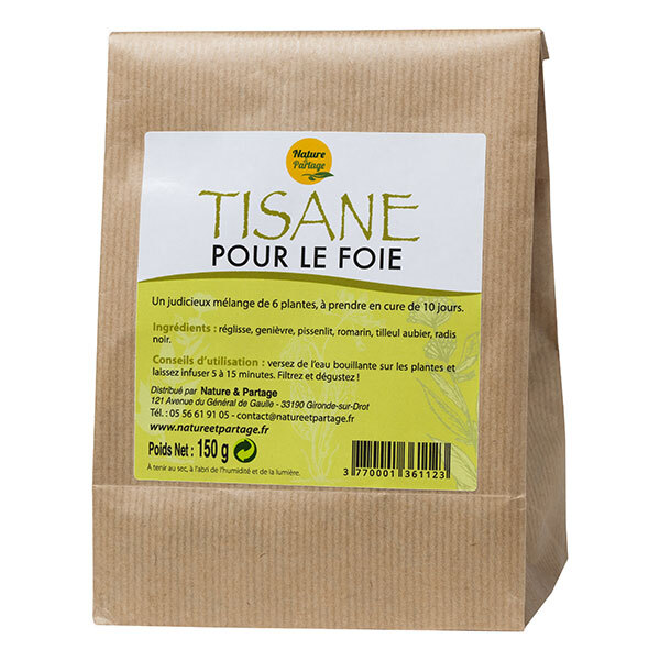 tisane d purative pour le foie 6 plantes 150g nature. Black Bedroom Furniture Sets. Home Design Ideas