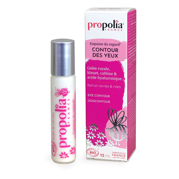 Propolia - Roll-On Bio Contour Yeux Gelée Royale, Marron D'Inde Roll-on 15