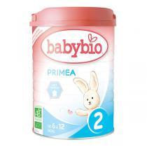 Babybio - Lot de 6 boites Lait de suite Priméa 2 BIO 6-12 mois - 900g